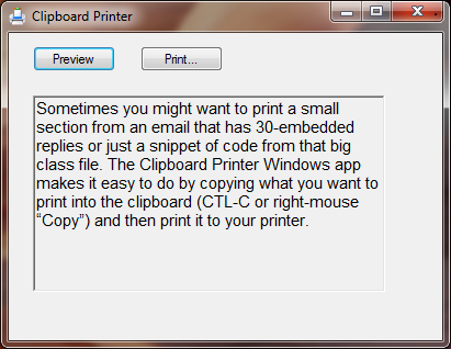 Clipboard Printer App