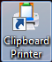 Clipboard Printer Icon